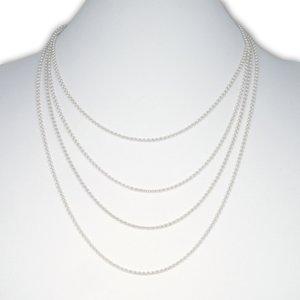 Zilveren ketting ronde schakel