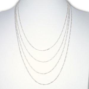 Zilveren ketting Figaro schakel