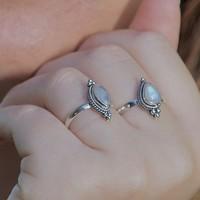 Zilveren Maansteen ring Sophie