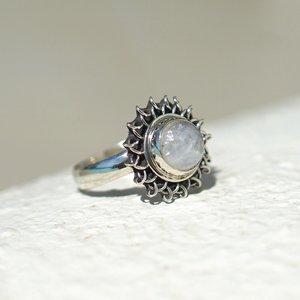 Zilveren ring Maansteen Zyara