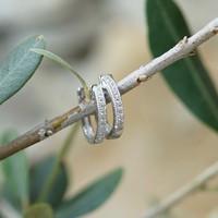 Zilveren oorbellen Zirkonia