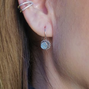Zilveren oorbellen Maansteen