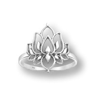 Zilveren ring Lotus Flower