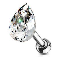 Piercing shiny teardrop druppelvorm