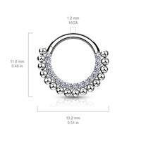 Piercing sparkling hoop silvy
