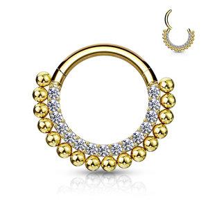 Piercing sparkling hoop goldy