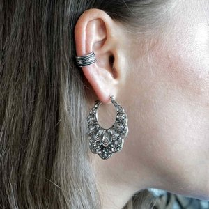 Zilveren earcuff Noëlle