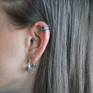 Zilveren earcuff Nevada