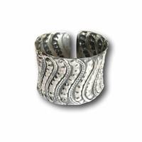 Zilveren brede armband Anouska