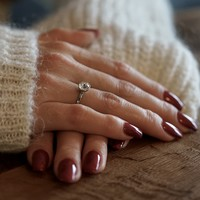 Zilveren ring Swarovski