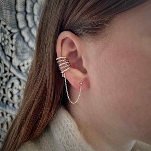 Zilveren chain earcuff Cinque