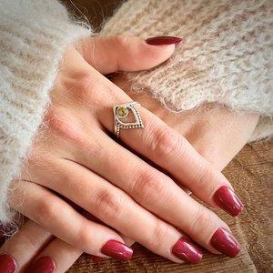 Zilveren ring Paisley Peridot
