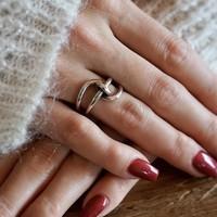 Zilveren ring Glennda