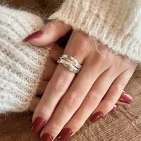 Zilveren ring Gaby