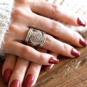 Zilveren ring Gwenn