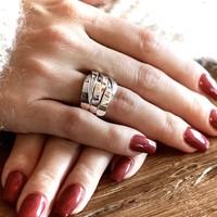 Zilveren ring Gwyneth