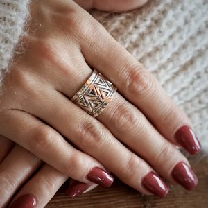 Zilveren boho ring Genesis