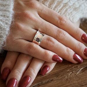 Zilveren Boho ring Geena
