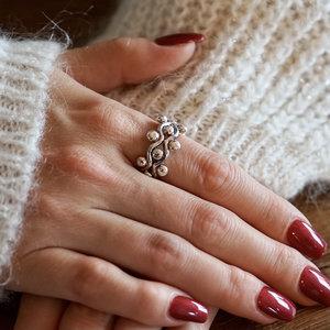 Zilveren Boho ring Gaia