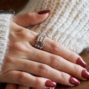 Zilveren Boho ring Galina