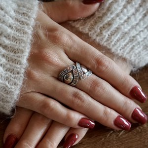 Zilveren Boho ring Gahelia