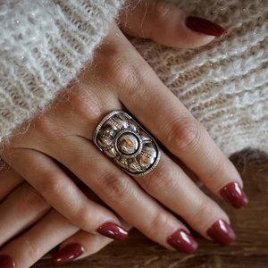 Zilveren Boho ring Gretha