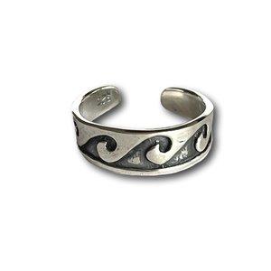 Teenring / vingertop ring Wave