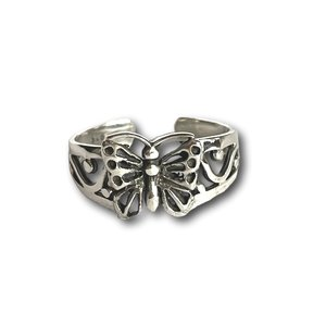 Teenring / vingertop ring vlinder
