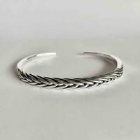 Zilveren armband Braided