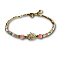 Enkelbandje lotus pastel
