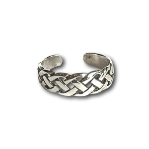 Teenring / vingertop ring braided
