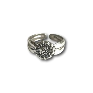 Teenring / vingertop ring sunflower