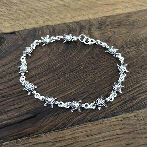 Zilveren armbandje schildpadjes