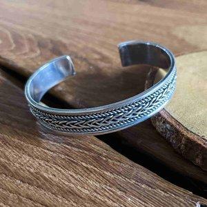 Zilveren  klemarmband braided