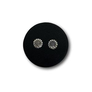 Zilveren oorknopjes zonnebloem