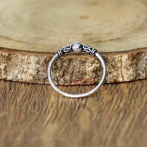 Zilveren ring Bali Hoops
