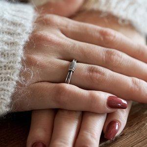 Zilveren ring Hayley