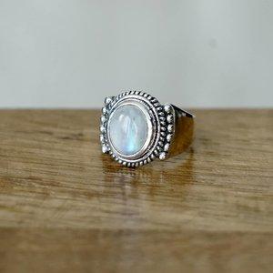 Zilveren Maansteen ring Anjali