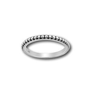 Zilveren ring Bali dot