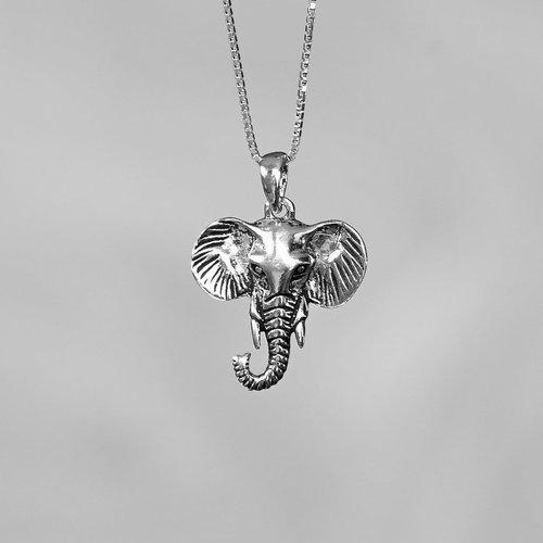 Zilveren Olifant hanger Chang