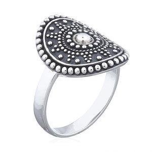 Zilveren mandala ring