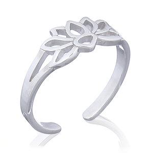 Teenring / vingertop ring Lotus