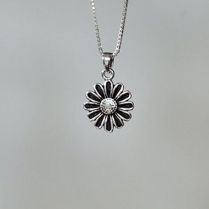 Zilveren hanger Sun Flower
