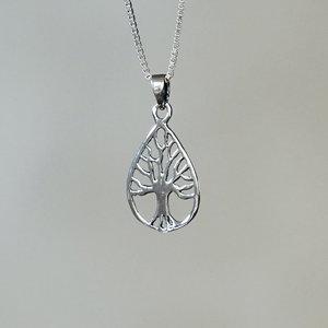 Zilveren hanger Tree of Life