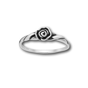 Zilveren ring beautiful Rose