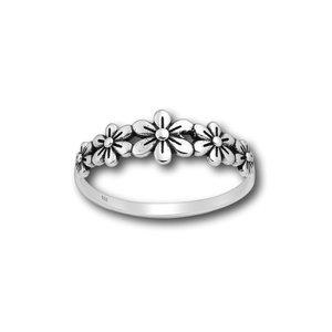 Zilveren ring 5 flowers