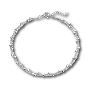 Zilveren enkelbandje bolletjes