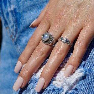 Zilveren Maansteen ring Sherya