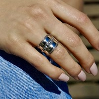 Zilveren brede Bali ring Denpasar maat 6