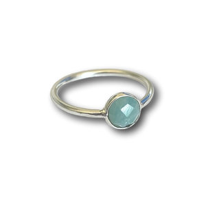 Zilveren ring Amazonite
